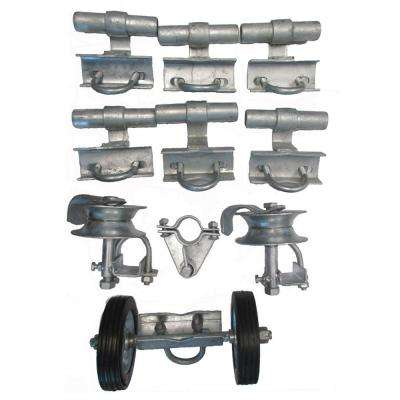 3 in. Universal Track Brackets Rolling Gate Hardware Kit, Residential and Commercia Type, Garden Fence