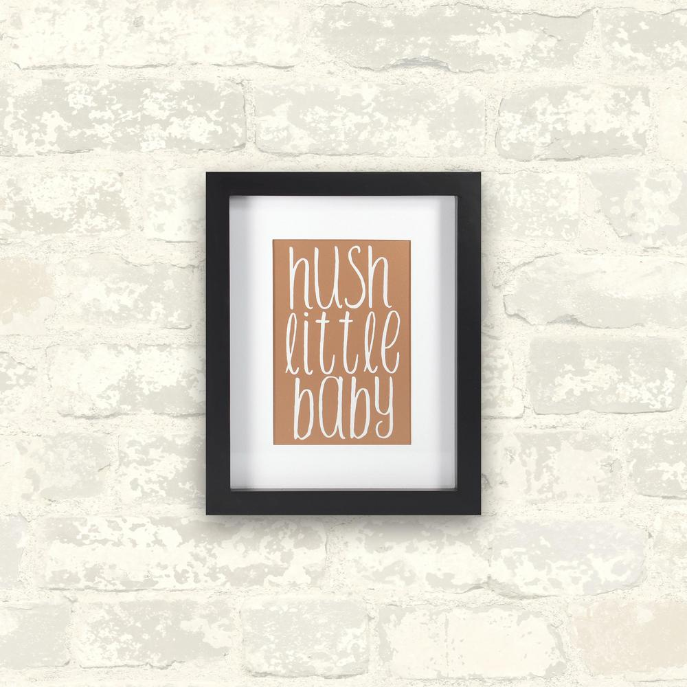 8 in. x 10 in. Hush Little Baby-Rose Gold 1-Piece Framed