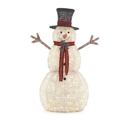 5 ft pre lit snowman with hat - Outdoor Wooden Reindeer Christmas Decorations