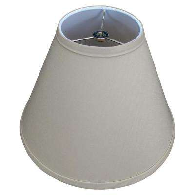 Fenchel Shades 12 in. Width x 8.25 in. Height Stone/Nickel Finish Empire Lamp Shade