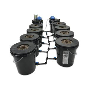Viagrow Hydroponic Black Bucket Deep Water System (8-Pack) by Viagrow