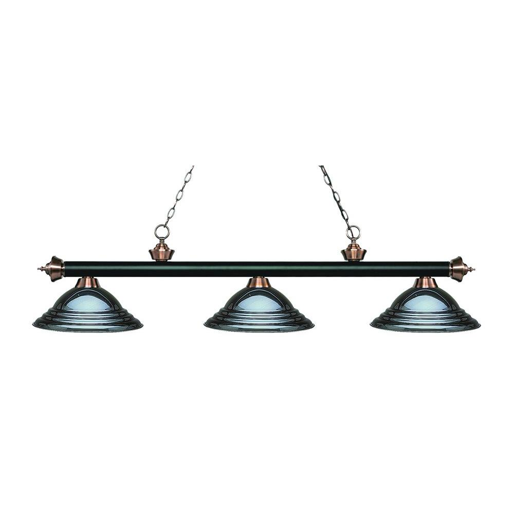 Filament Design Kelly 3-Light Matte Black And Antique