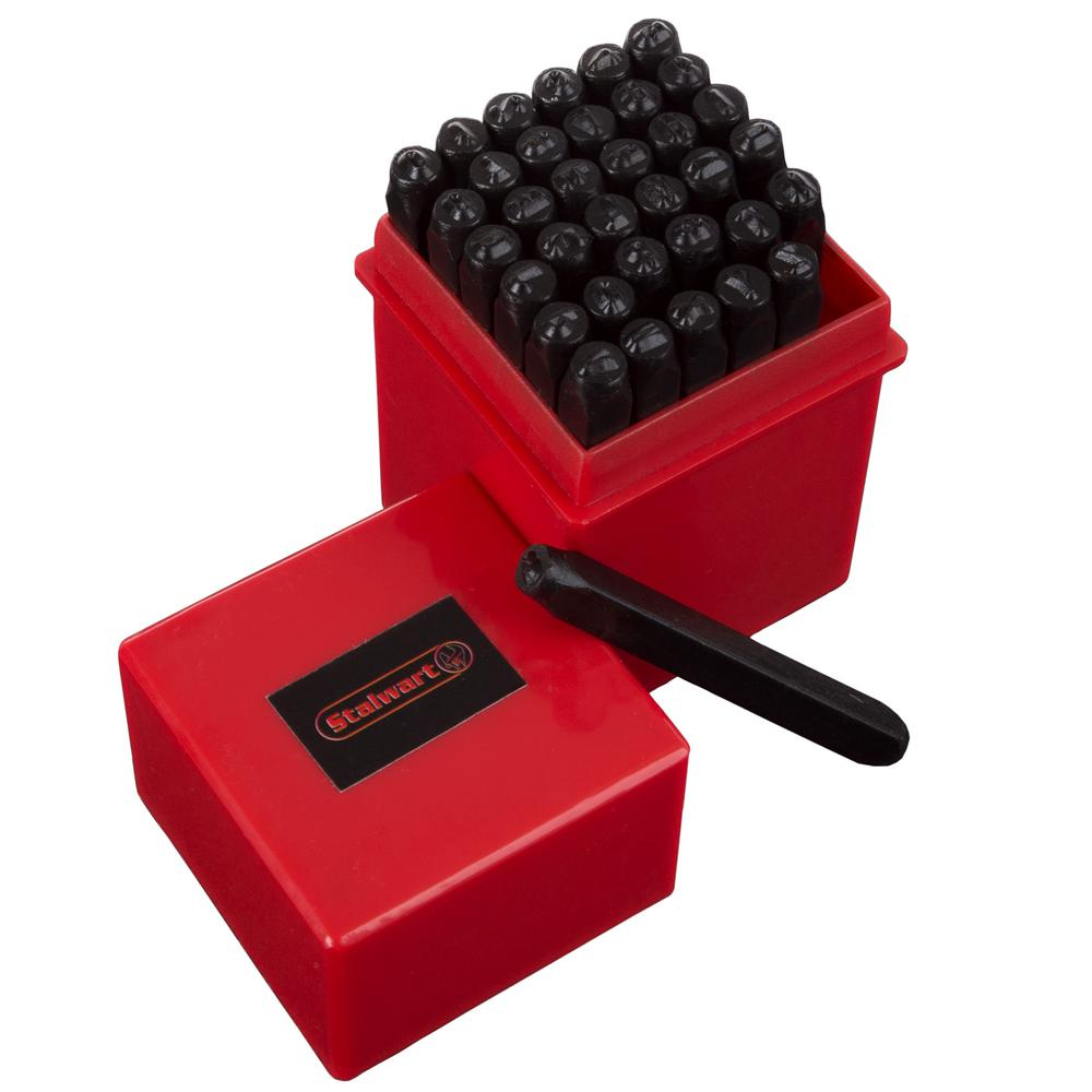 Metal Stamping Machine Tool Belarus: Stalwart 1/4 In. Letter And Number Metal Stamp Set (36