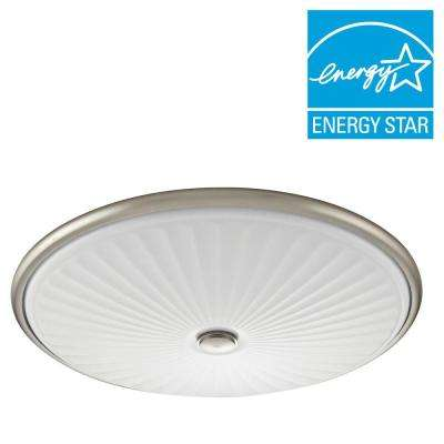 Liana 17 in. Brushed Nickel LED Flushmount