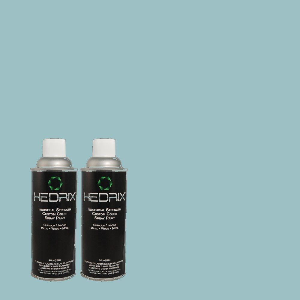 Hedrix 11 oz. Match of 2A47-3 Dewfall Flat Custom Spray Paint (2-Pack)