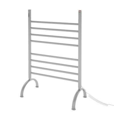 Essentia OBT 8-Bar Electric Floor Mount Towel Warmer with Integrated On-Board Timer in Brushed Stainless Steel