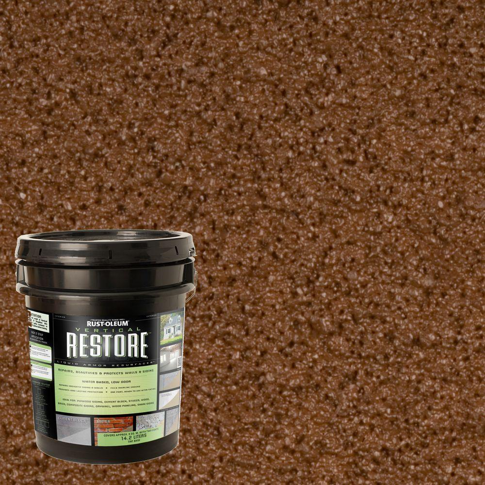 Rust-Oleum Restore 4-gal. Russet Vertical Liquid Armor Resurfacer for Walls and Siding