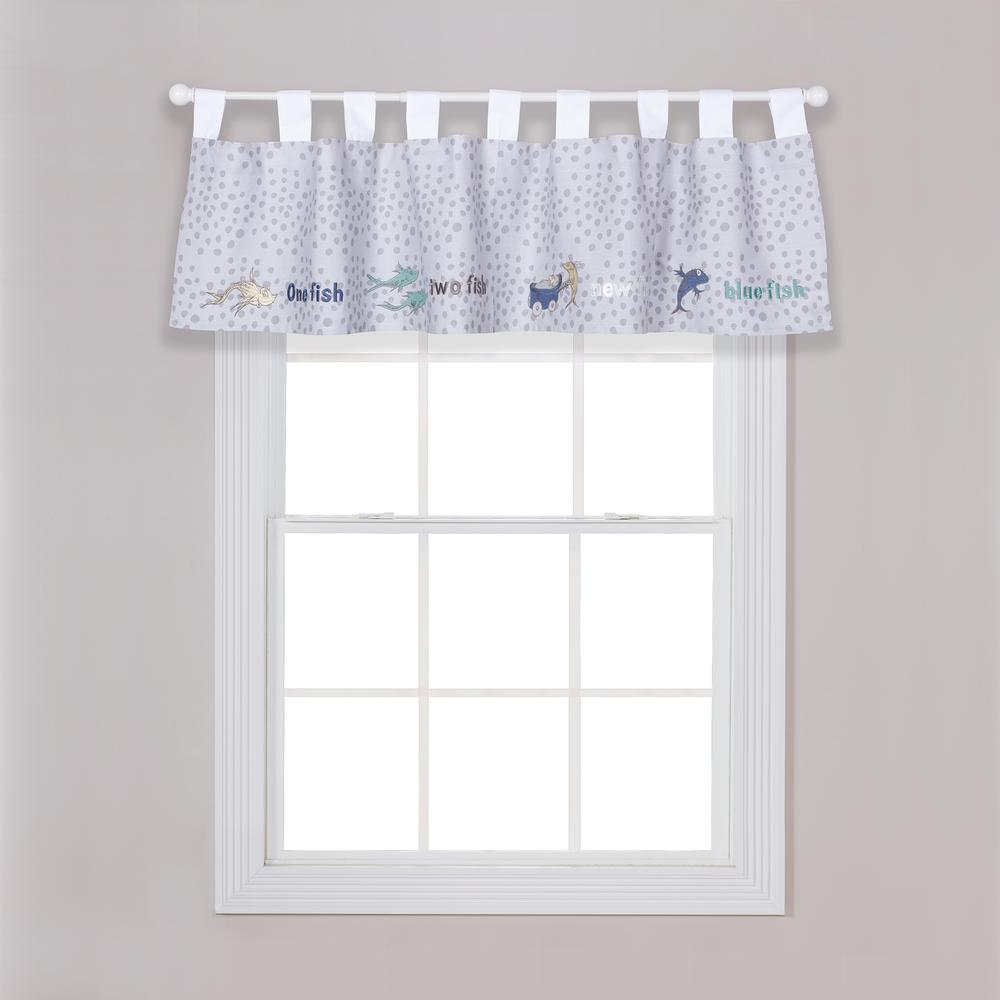 Trend Lab Dr Seuss New Fish Multiple Window Valance