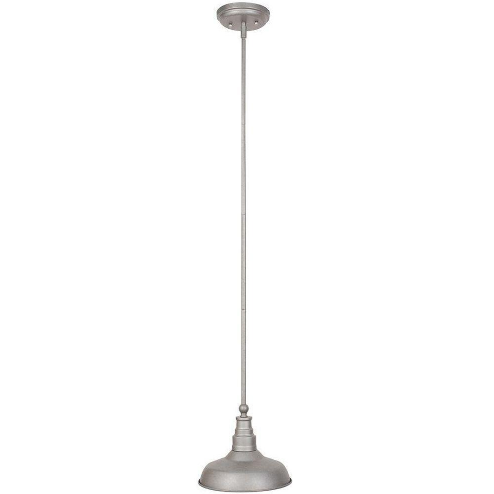 Kimball 1-Light Galvanized Steel Indoor Mini Pendant