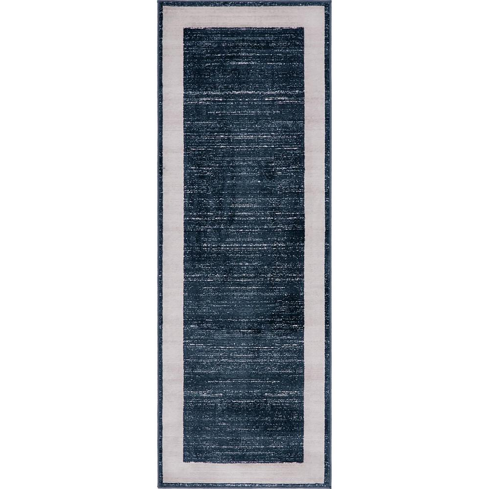Jill Zarin Uptown Collection by Jill Zarin™ Yorkville Navy Blue 2' 2 x 6' 0 Runner Rug