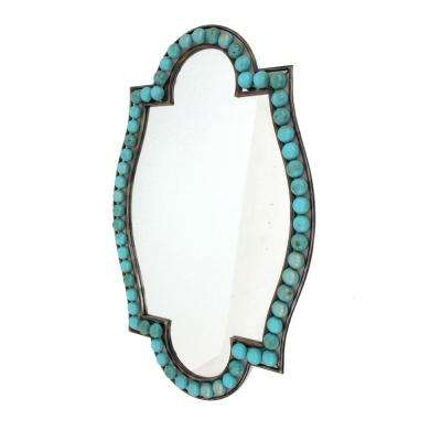 Teal Metal Wall Mirror