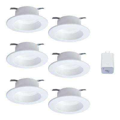 4in. Tunable CCT Smart Integrated LED Recessed Retrofit Trim (6-Pack) and Bluetooth Internet Access Bridge by HALO Home