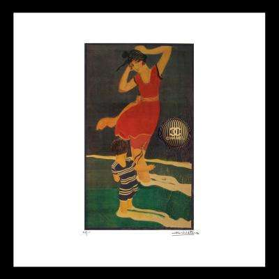 """16 in x 16 in"" ""Dancer""  Vintage Chanel Ad by Fairchild Paris Framed Printed Wall Art"