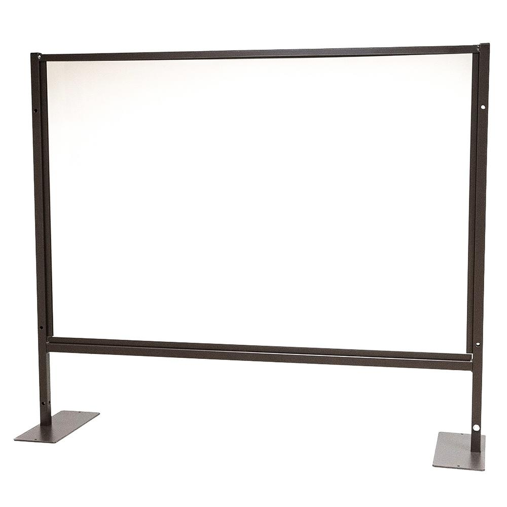 48 In X 41 In X 1 In Protective Sneeze Plexi Shield Tabletop With Feet Hom503600 The Home Depot