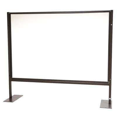 48 in. x 41 in. x 1 in. Protective Sneeze Plexi Shield - Tabletop with Feet