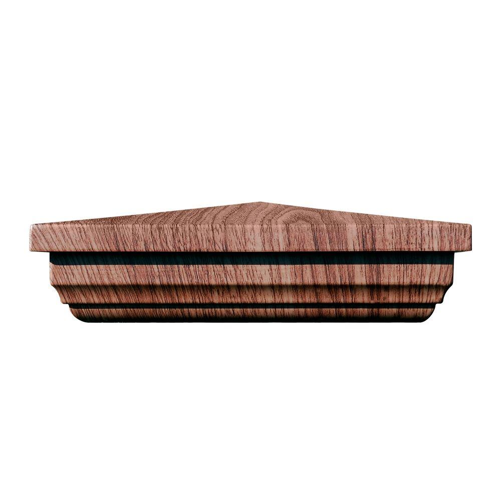 5 in. x 5 in. Vinyl Anaheim Walnut New England Pyramid