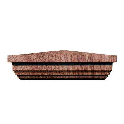 5 in. x 5 in. Vinyl Anaheim Walnut New England Pyramid Post Cap