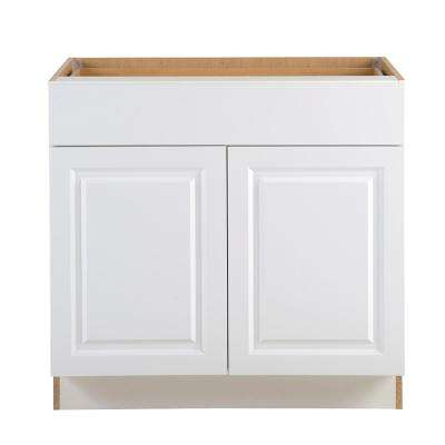 Benton Assembled 36x34.5x24.5 in. Base Cabinet with Soft Close Full Extension Drawer in White