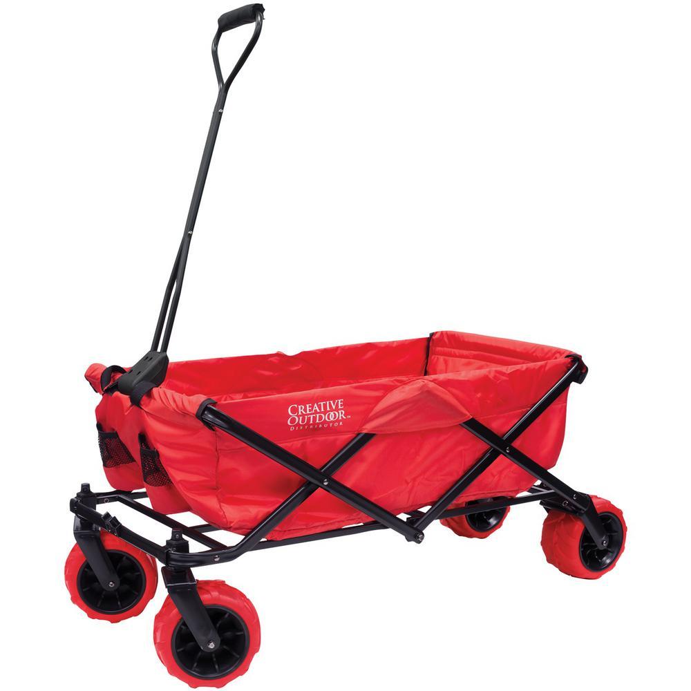 All-Terrain Red Folding Wagon