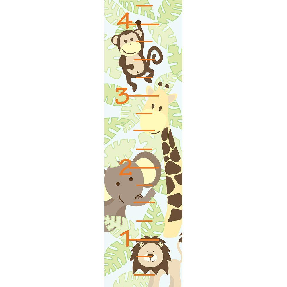 Wallpops 52 in x 13 in jungle friends growth chart wall decal jungle friends growth chart wall decal nvjuhfo Image collections
