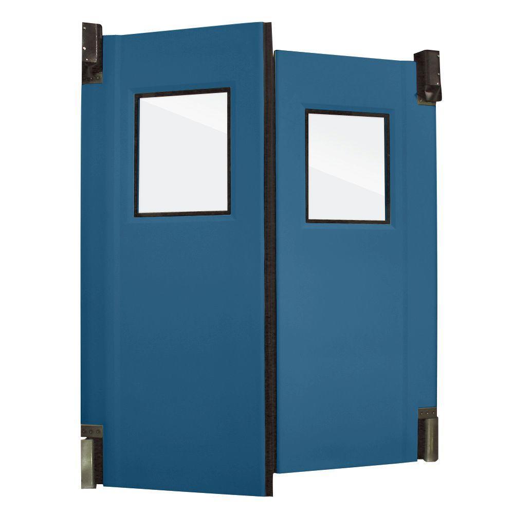 Aleco ImpacDor HD-175 1-3/4 in. x 60 in. x 96 in. Royal Blue Impact Door