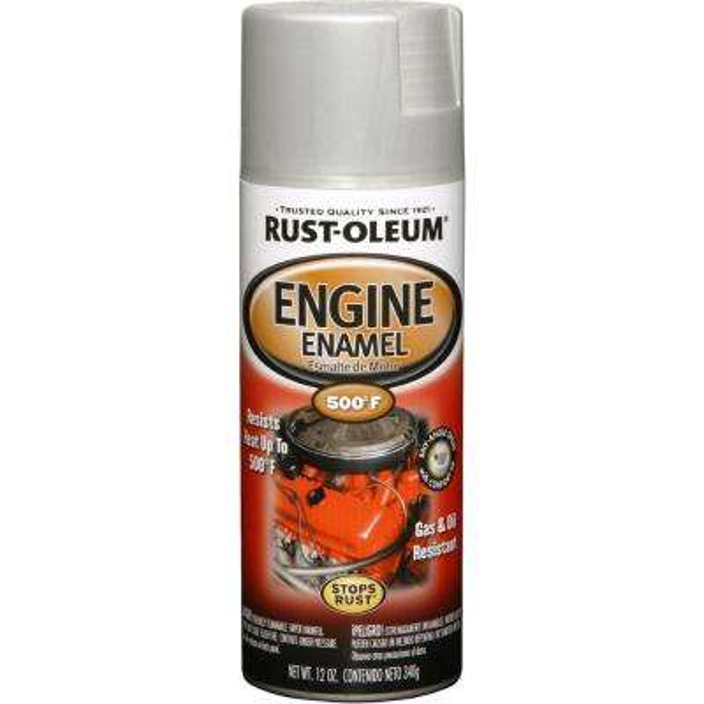 12 oz. Semi-Gloss Cast Coat Aluminum Engine Enamel Spray Paint (6-Pack)