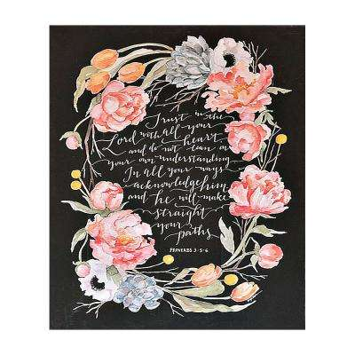 """GraceLaced """"Trust In The Lord"""" by GraceLaced for Carpentree Printed Canvas Wall Art"""