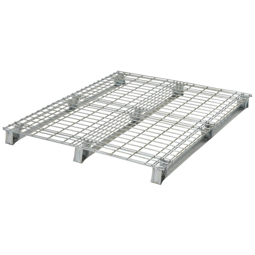 40 in. x 48 in. x 4 in. Galvanized Steel Welded Wire Pallet