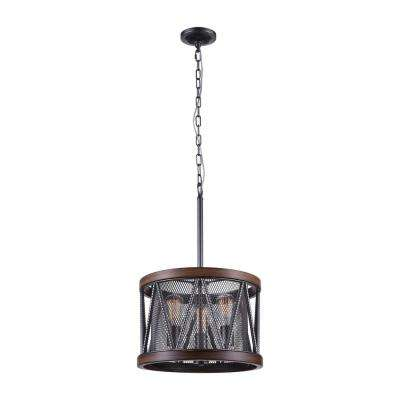 Parsh 3-Light Pewter Chandelier