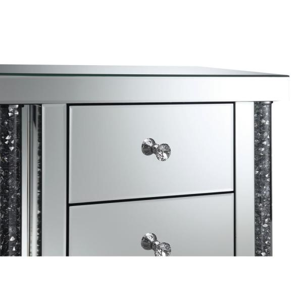 ✨ Silver Black Mirrored Dressing Vanity Console Table Crystal Handle Drawers ✨