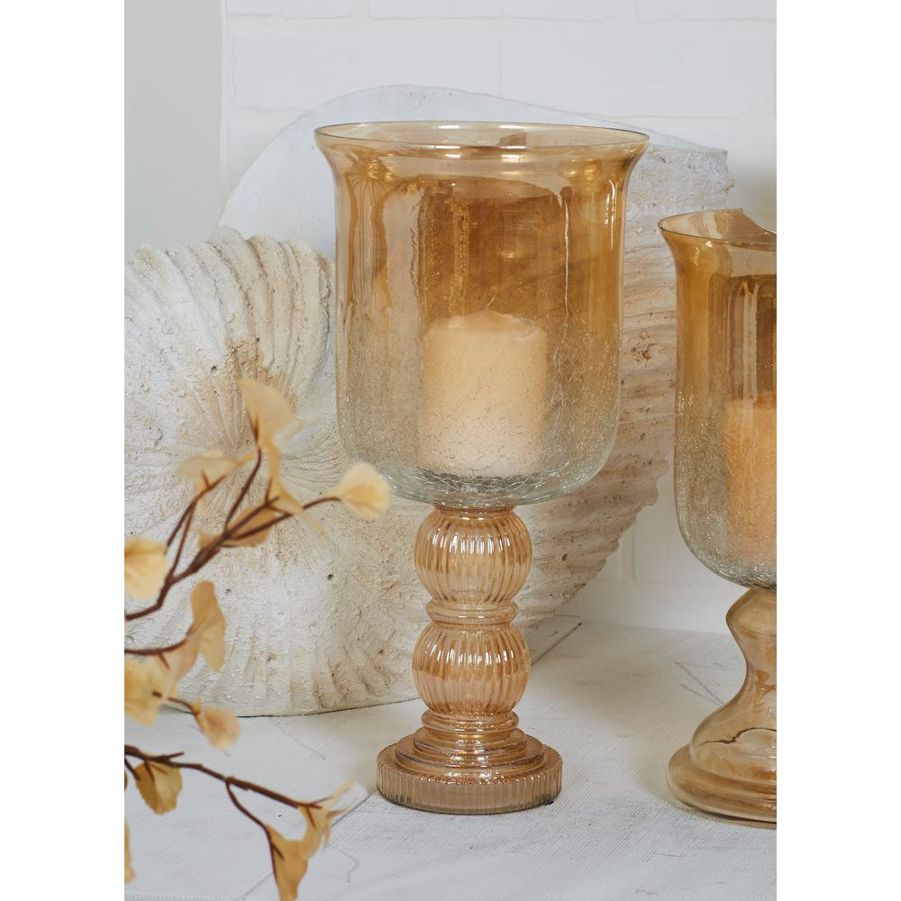 Gold tinged glass hurricane candle holder 24625 the home depot gold tinged glass hurricane candle holder reviewsmspy