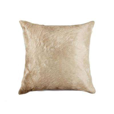 Torino Natural 18 in. x 18 in. Cowhide Pillow