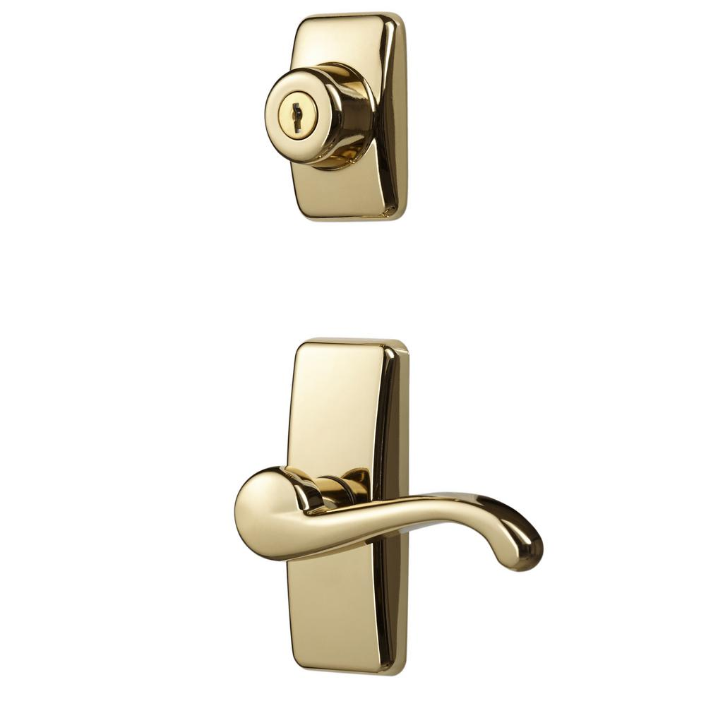 Ideal Security Bright Brass Coated Zinc Storm And Screen