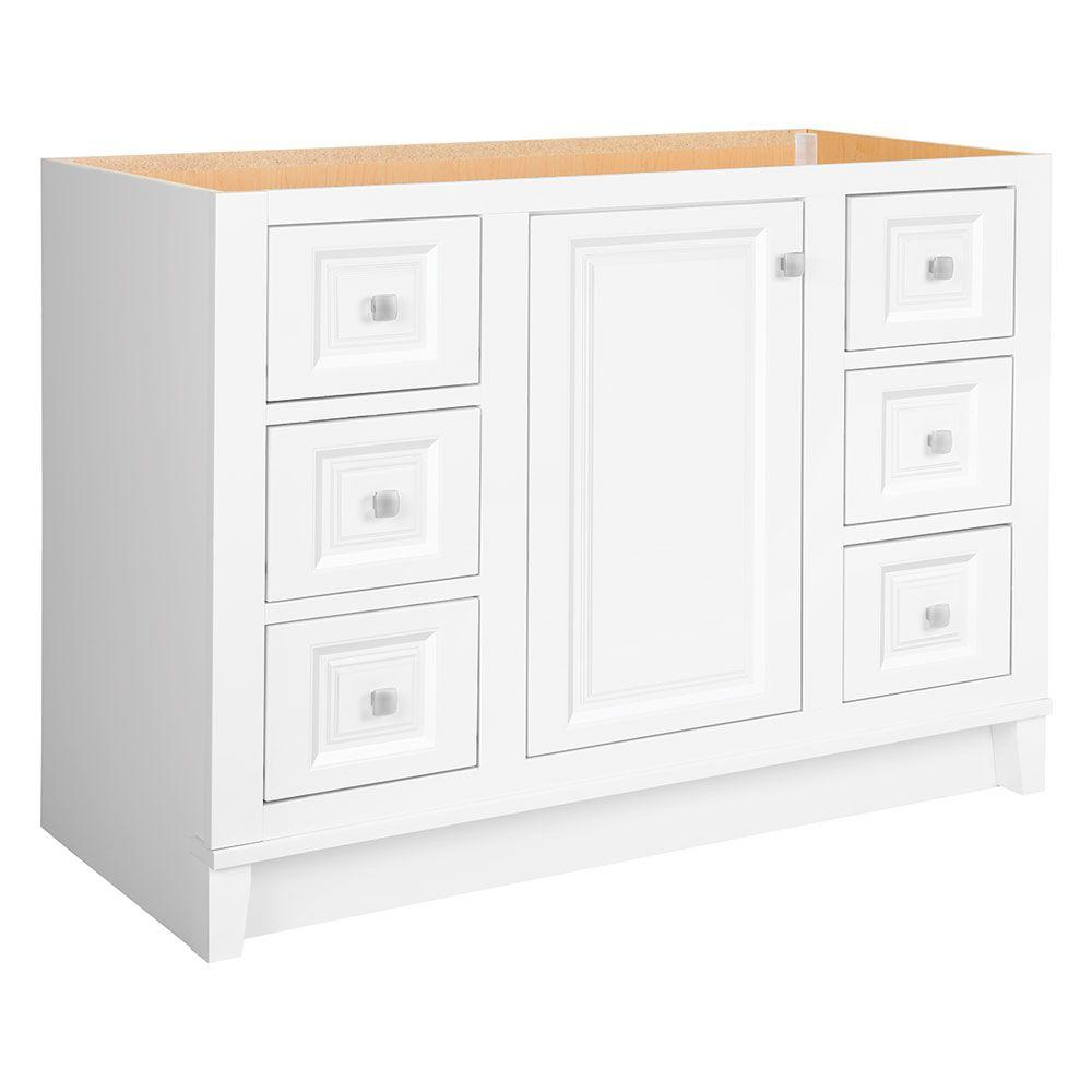 white shaker bathroom vanity. Glacier Bay Kinghurst 48 In. W X 21 D 33.5 White Shaker Bathroom Vanity