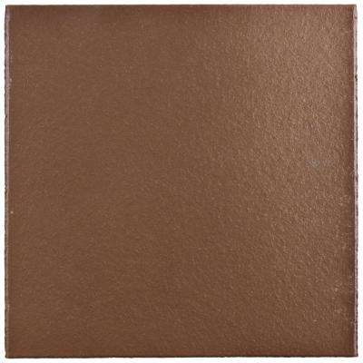 Klinker Flame Red 5-7/8 in. x 5-7/8 in. Ceramic Floor and Wall Quarry Tile (6 sq. ft. / case)