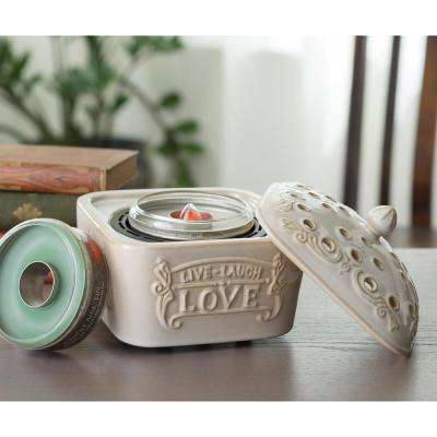 8.2 in Live, Laugh, Love Candle Aire with Candle Aire Tin Bundle