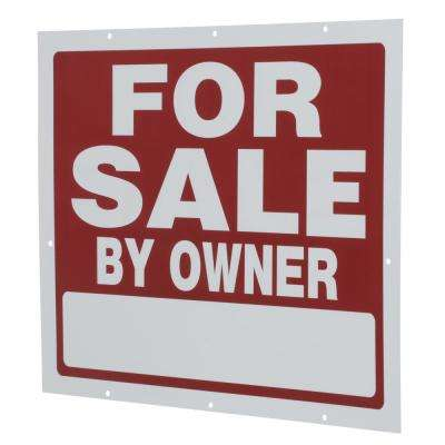 18 in. x 24 in. Plastic for Sale By Owner Sign