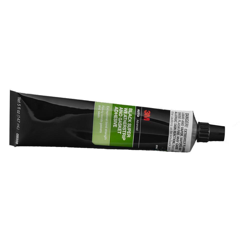 5 fl. oz. Super Weatherstrip and Gasket Adhesive in Black