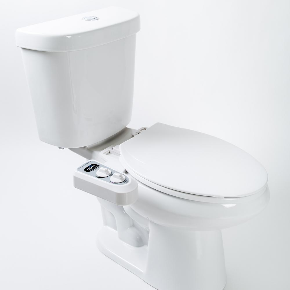 Magnificent Aim To Wash Dual Nozzle Self Cleaning Bidet Attachment For Elongated And Round Bowl With Brass Valves Connectors And Hoses In White Gmtry Best Dining Table And Chair Ideas Images Gmtryco