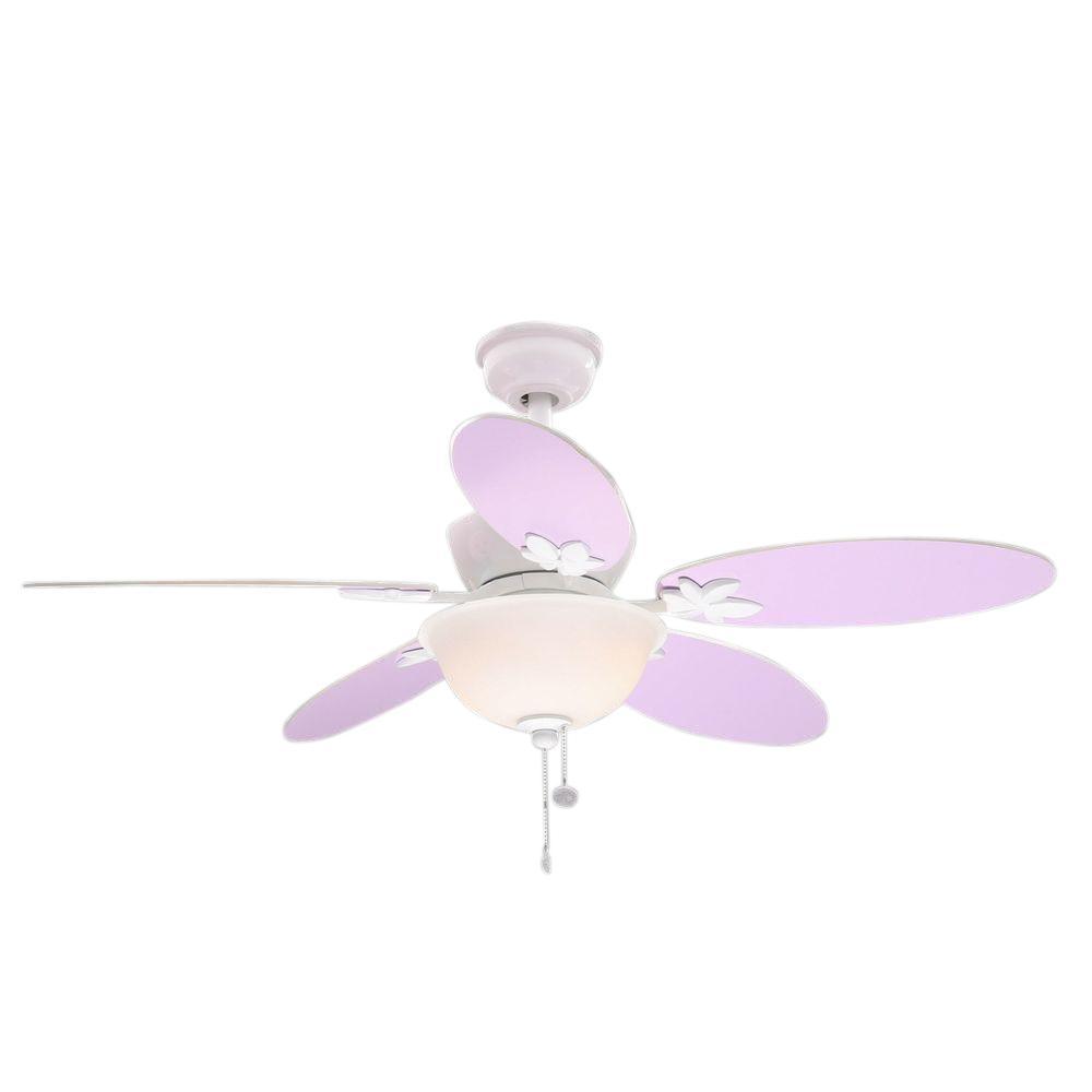 Hampton Bay Harper III 44 in. Indoor White Ceiling Fan with Light Kit