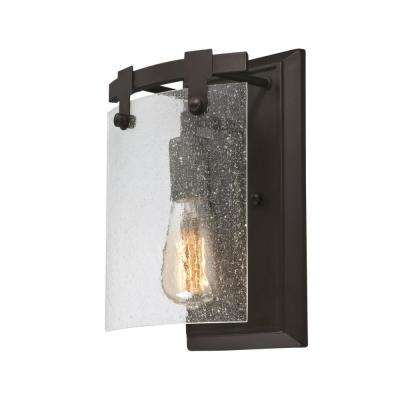 Burnell 1-Light Oil Rubbed Bronze Wall Mount Sconce