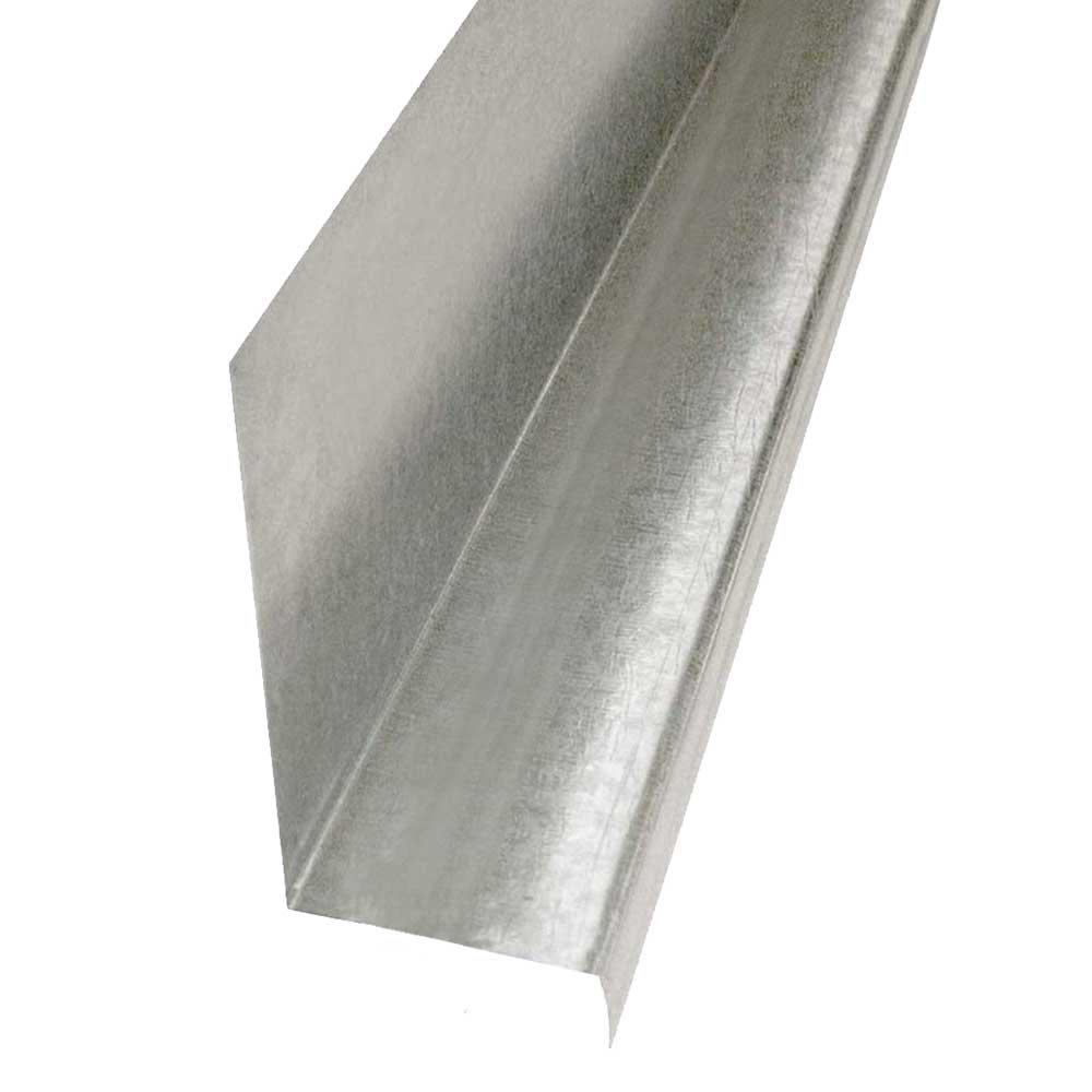 Construction Metals 1-1/4 in  x 10 ft  Galvanized Steel Z Bar Flashing