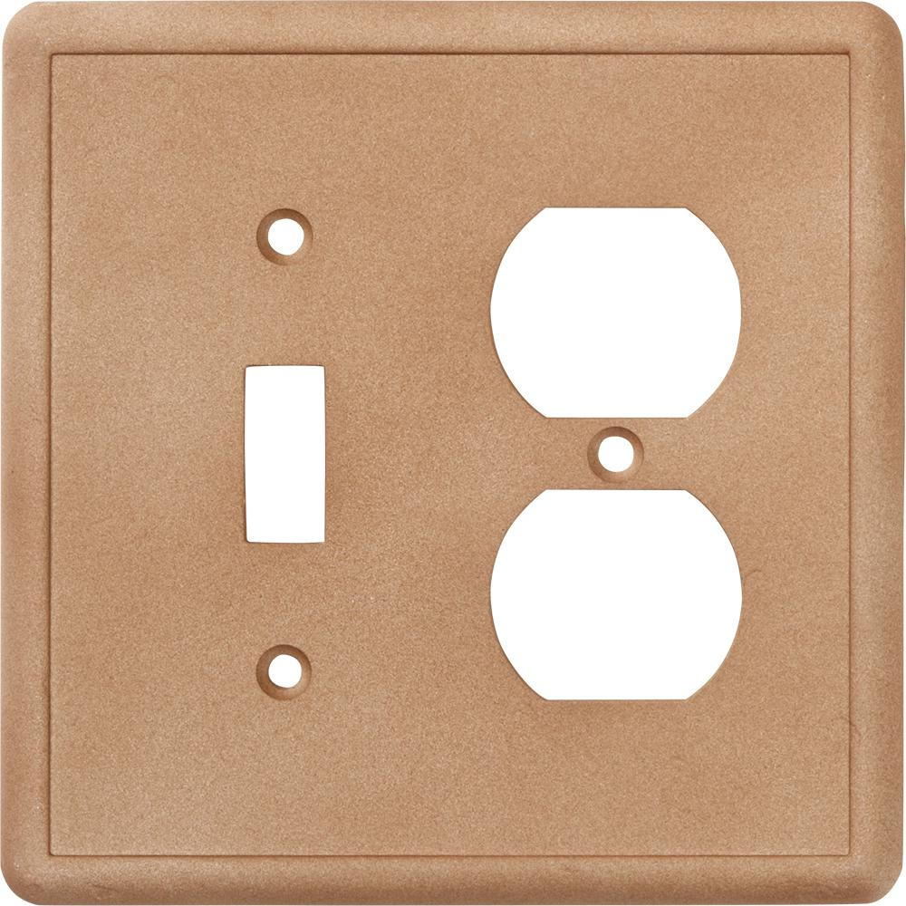 Hampton Bay 2-Gang 1 Toggle Combination Wall Plate in Noche