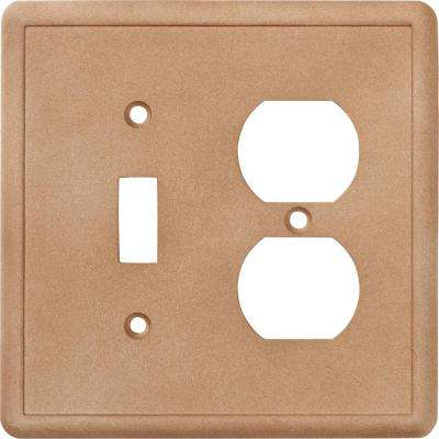 2-Gang 1 Toggle Combination Wall Plate in Noche
