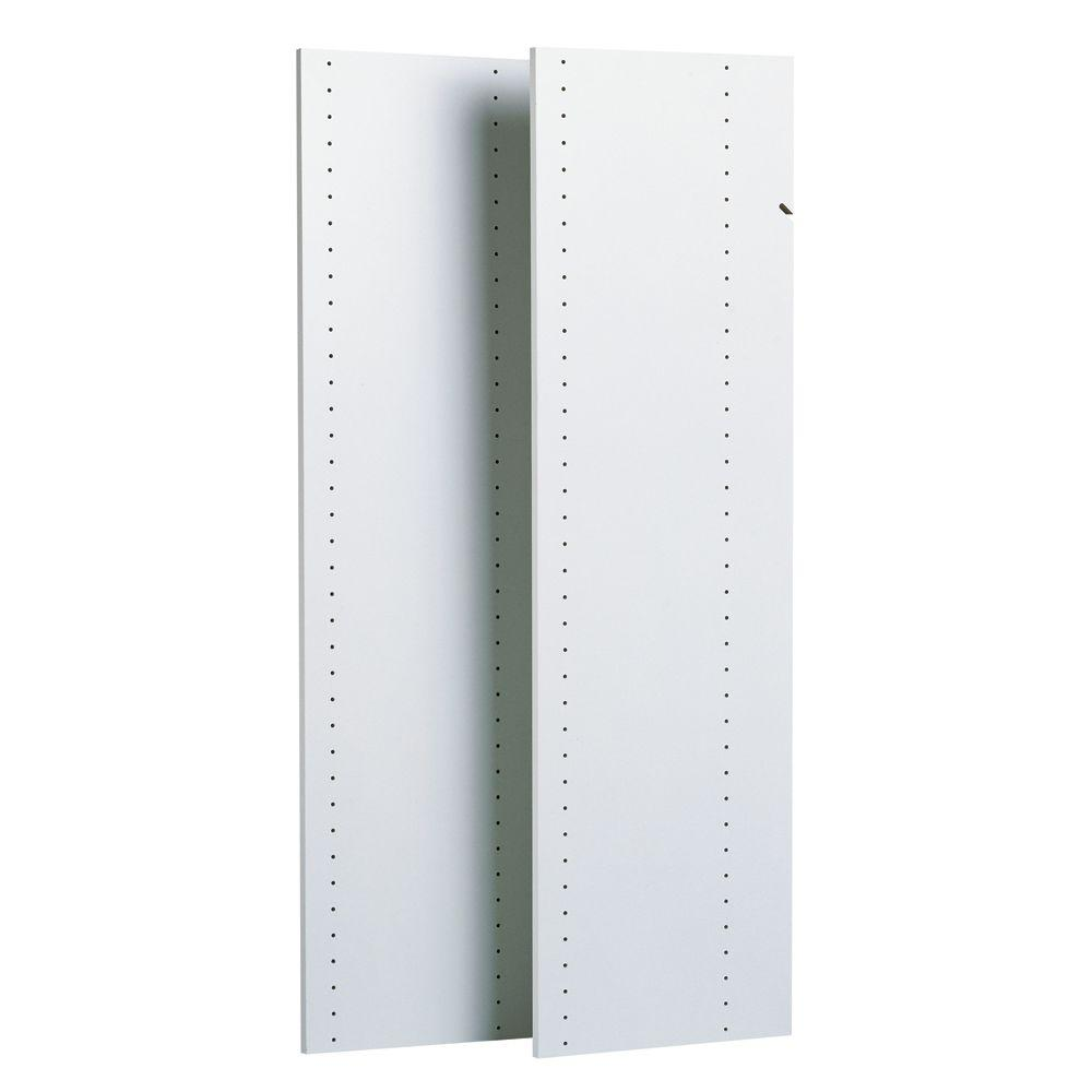 Closet Evolution 14 in. x 48 in. Classic White Wood Vertical Panels (2-Pack)