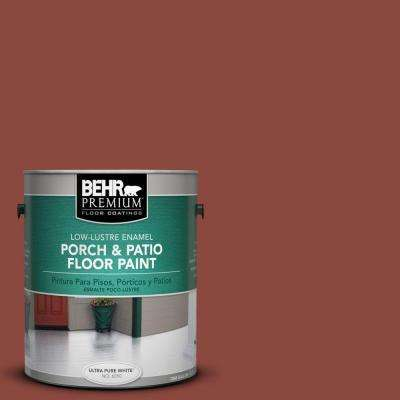 1 gal. #PFC-10 Deep Terra Cotta Low-Lustre Interior/Exterior Porch and Patio Floor Paint