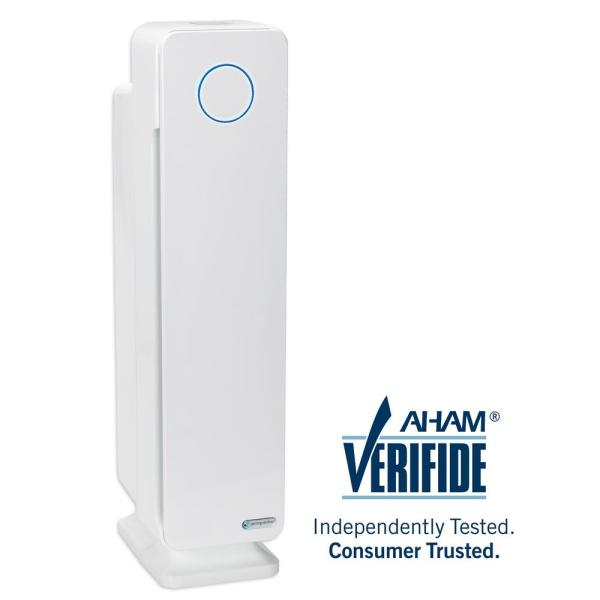 Elite 4-in-1 True HEPA Air Purifier with UV Sanitizer and Odor Reduction 28 in. Digital Tower