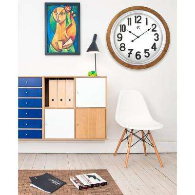 Timber 30.75 in. x 30.75 in. Round Wall Clock