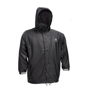 John Deere Premium Black Stretch Rain Jacket Size 2X-Large by John Deere