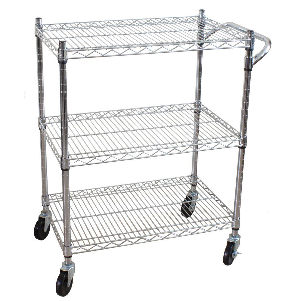 Oceanstar 3 Tier Steel Heavy Duty All Purpose Utility Cart